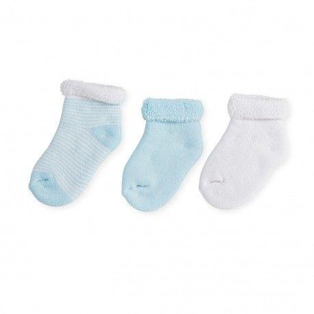 Lot de 3 paires de chaussettes Bleu Blanc Trois Kilos Sept