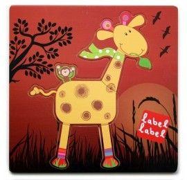 Puzzle Girafe Label-Label