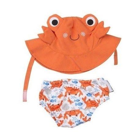 Ensemble maillot de bain et Chapeau Zoocchini Crabe