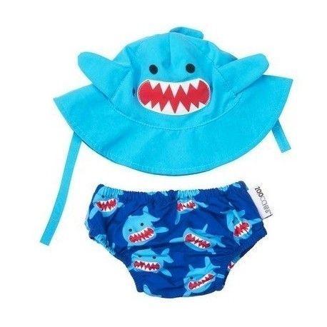 Ensemble maillot de bain et Chapeau Requin Zoocchini