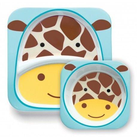 Bee Monkey Skip Hop Zoo Animal mélamine plaque /& Bol Set-hibou