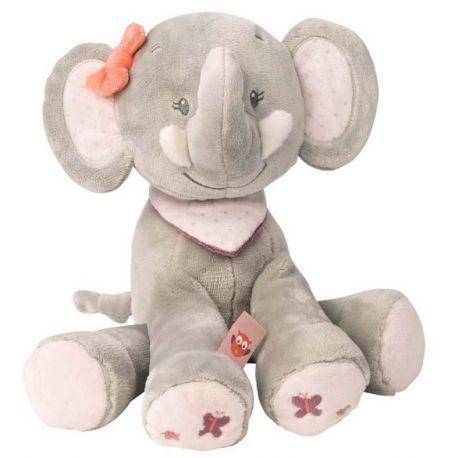 Peluche Adèle l'éléphant Nattou