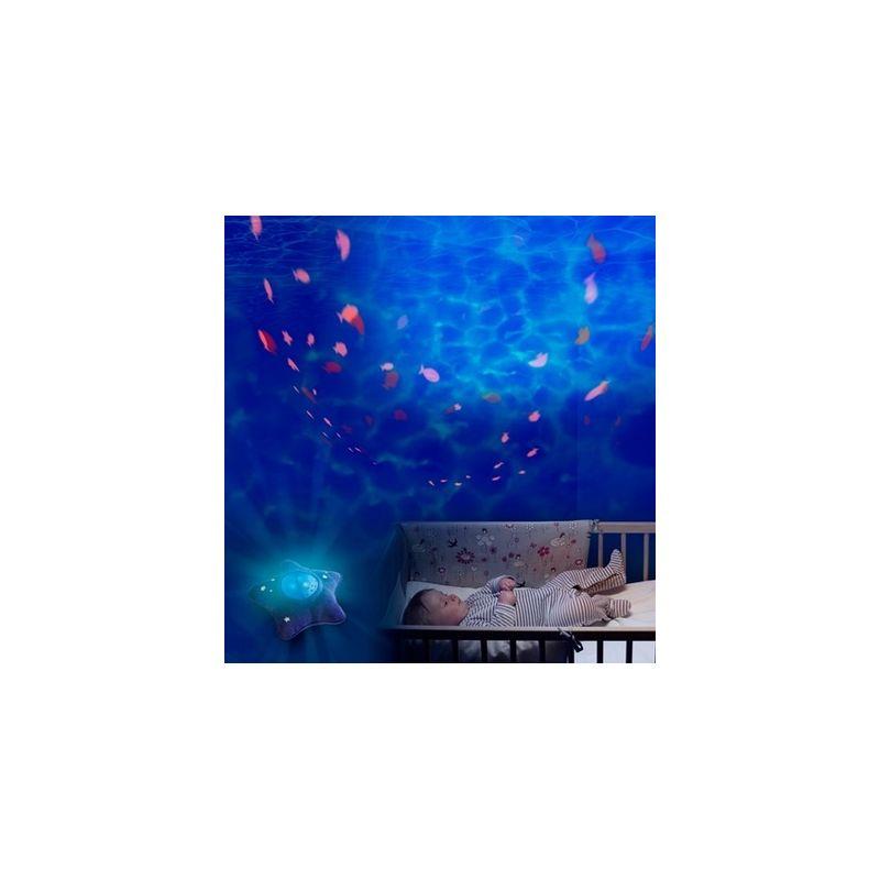 Veilleuse toile projecteur calm ocean pabobo - Veilleuse projecteur etoile ...