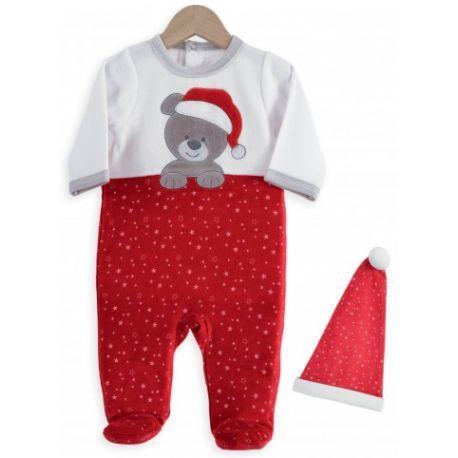 Pyjama et bonnet de Noël