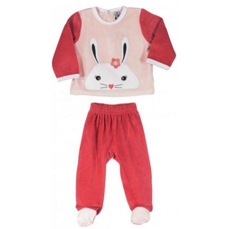 Pyjama 2 pièces Rose Lapin