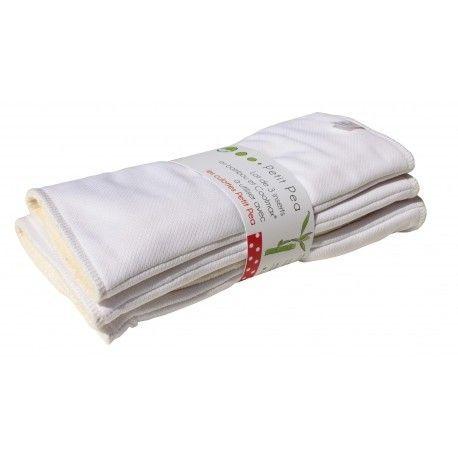 Lot de 2 inserts en bambou et Coolmax pour les culottes Petit Pea