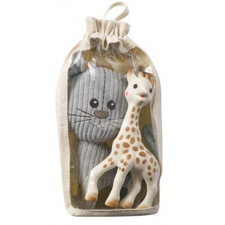 Set Lazare le chat et Sophie la girafe