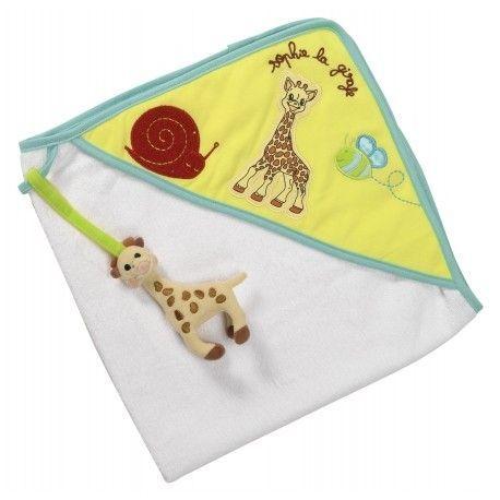 Cape de bain avec hochet peluche Sophie la girafe