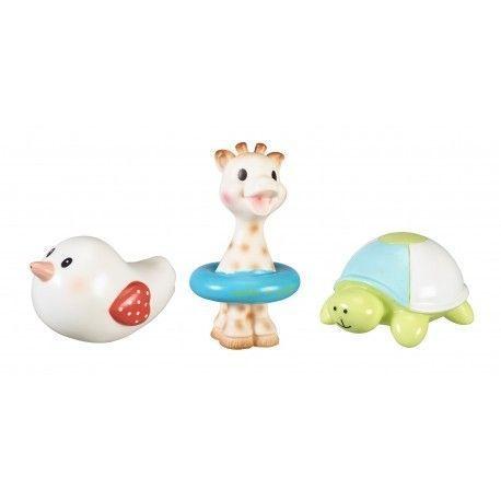 Set de 3 jouets pour le bain Sophie la girafe