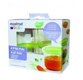 4 p'tits pots (2*300ml+2*150ml) vert & orange