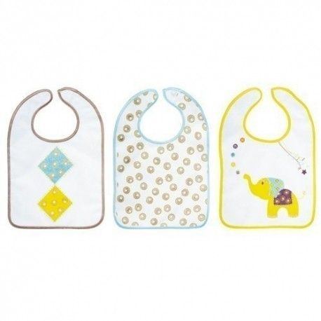 Lot de 3 bavoirs 6M+ Baby Calin