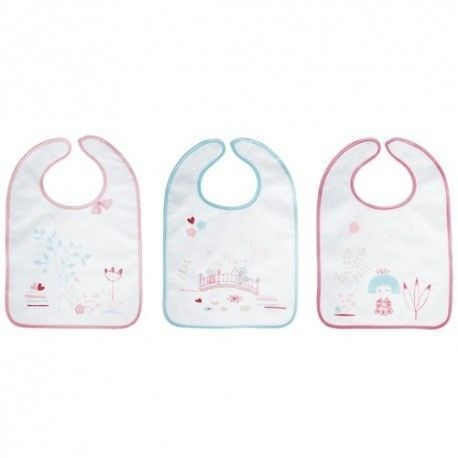 Lot de 3 bavoirs 6M+ Fille Baby Calin